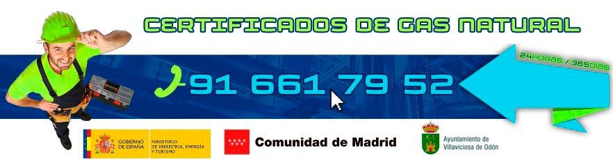 Certificados de gas natural en Villaviciosa de Odón