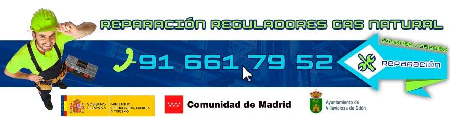 Reparación urgente de reguladores de gas natural en Villaviciosa de Odón