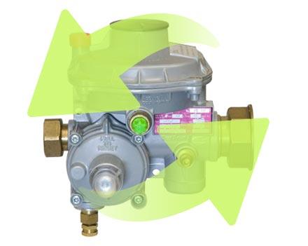 sustitución de reguladores de gas natural en Villaviciosa de Odón