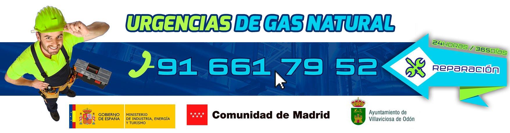 Reparación urgencias gas natural en Villaviciosa de Odón